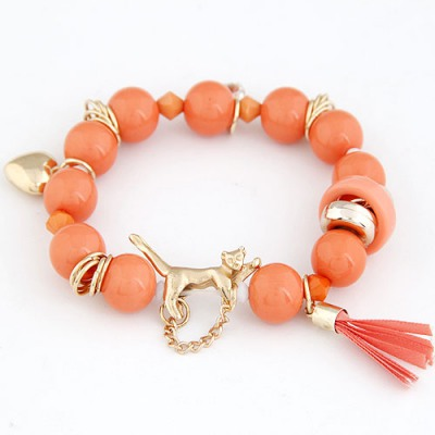 Street Orang Leopard Decorated Design Alloy Korean Fashion Bracelet