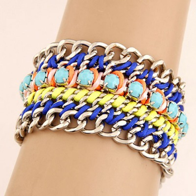 Toddler Multicolor Multilayer Weaving Wide Design Alloy Fashion Bracelets