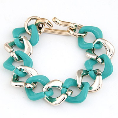 Personal Dark Green double color chain design CCB Korean Fashion Bracelet