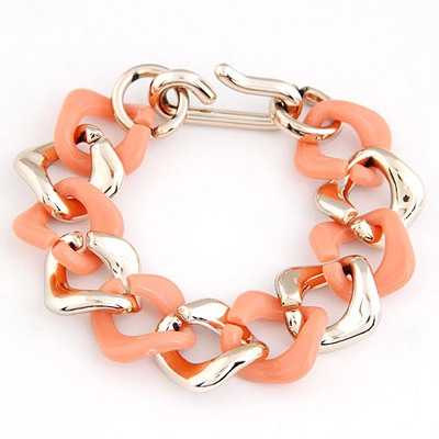 Stronglite Orange double color chain design CCB Korean Fashion Bracelet