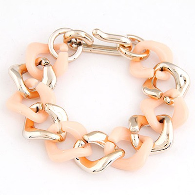 Madewell Light Orange double color chain design CCB Korean Fashion Bracelet