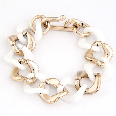 Tanzanite White double color chain design CCB Korean Fashion Bracelet