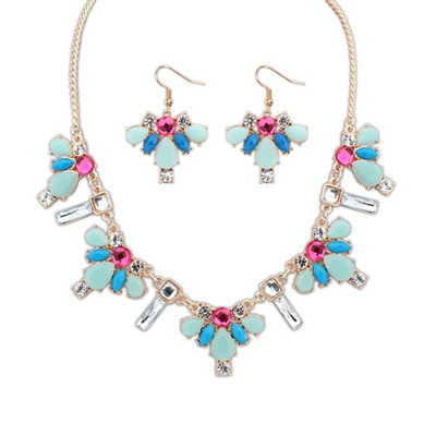 Cheap Multicolor Geometric Simple Design Alloy Jewelry Sets