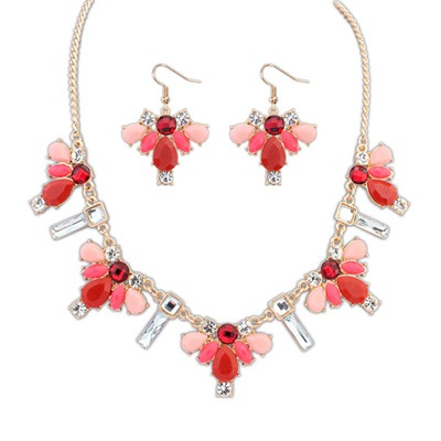 Mexican Red Geometric Simple Design Alloy Jewelry Sets