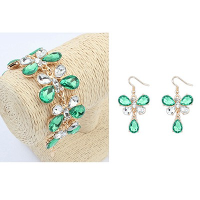 Sullen Green Butterfly Shape Design Alloy Jewelry Sets