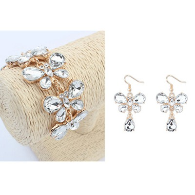 Estate White Butterfly Shape Design Alloy Jewelry Sets
