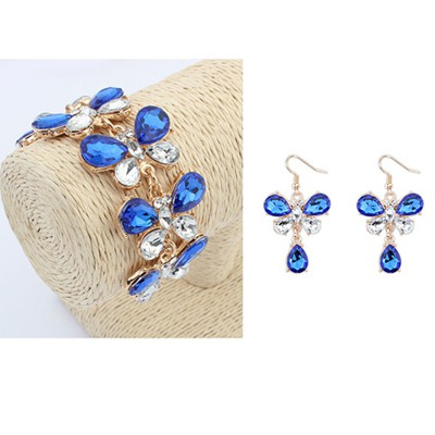 Celtic Sapphire Butterfly Shape Design Alloy Jewelry Sets