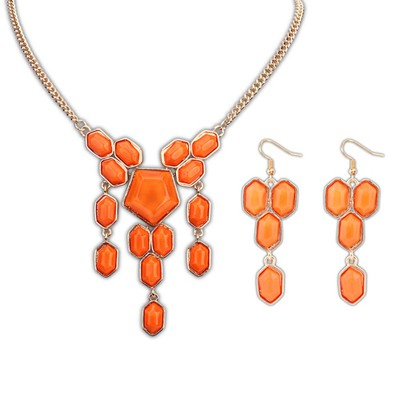 Folding Orange Geometric Simple Design Alloy Jewelry Sets