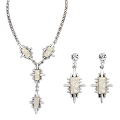 Toddler Beige Geometric Shape Rivet Design Alloy Jewelry Sets