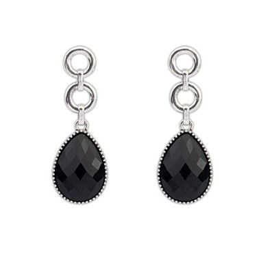 Easter Black Water Drop Simple Design Alloy Korean Earrings