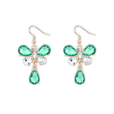 Chunky Green Butterfly Shape Design Alloy Korean Earrings