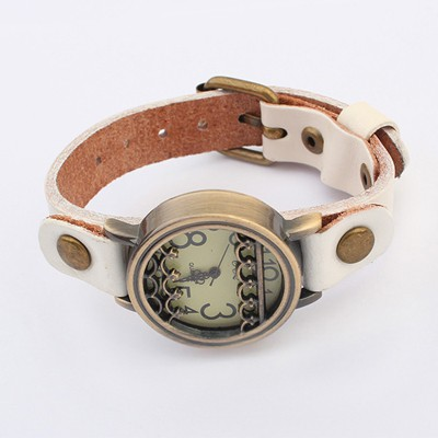 Shopping White Vintage Simple Design Alloy Fashion Watches