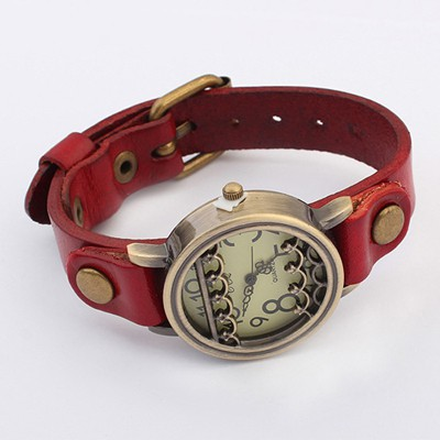 Cool Red Vintage Simple Design Alloy Ladies Watches