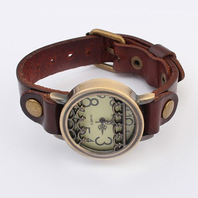 Health Coffee Vintage Simple Design Alloy Fashion Watches
