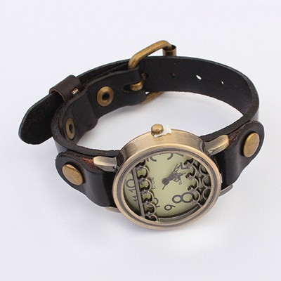 Squash Black Vintage Simple Design Alloy Fashion Watches