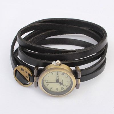 Fabulous Black Multilayer Simple Design Alloy Fashion Watches