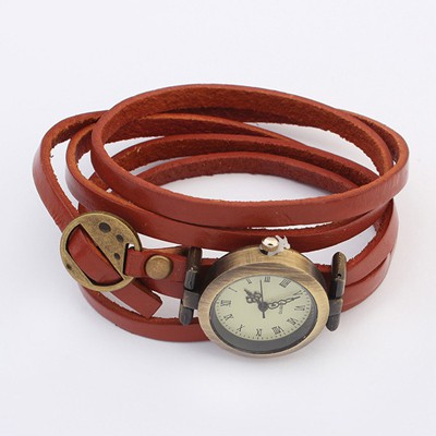 Waist Coffee Multilayer Simple Design Alloy Fashion Watches