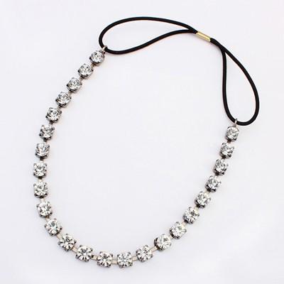 Winter Silver Color Diamond Decorated Simple Design