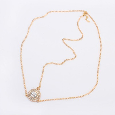 Glam Gold Color Diamond Decorated Simple Design