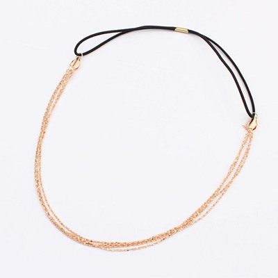 Bespoke Gold Color Chain Simple Design Alloy Hair band hair hoop
