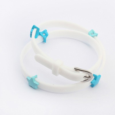 Square White Sea Star Decorated Design Plastic Korean Fashion Bracelet