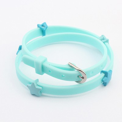 Current Light Blue Sea Star Decorated Design Plastic Korean Fashion Bracelet