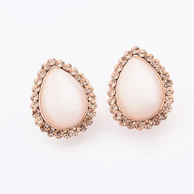 Sanctuary Gold Color Water Drop Shape Design Alloy Stud Earrings