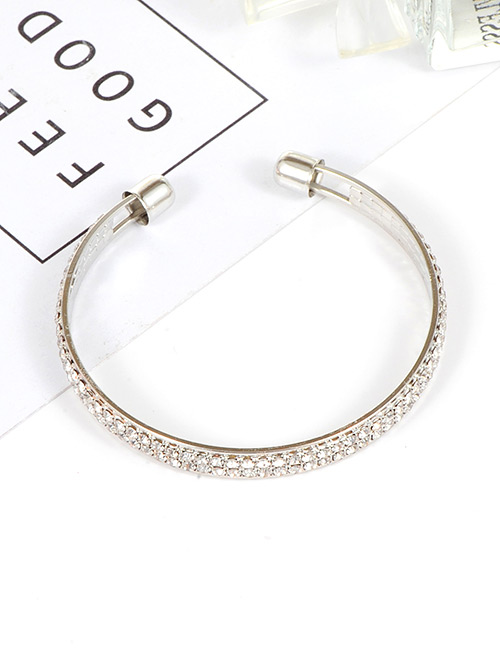Trendy Silver Color Pure Color Decorated Opening Bracelet