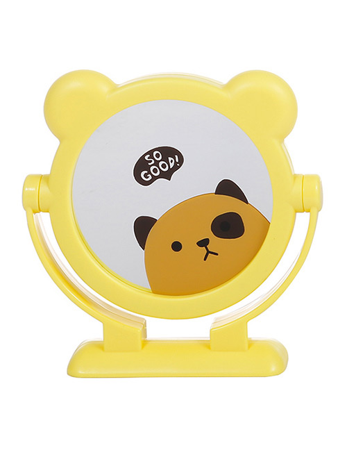 Fashion Yellow Bear Pattern Decorated Cosmetic Mirror