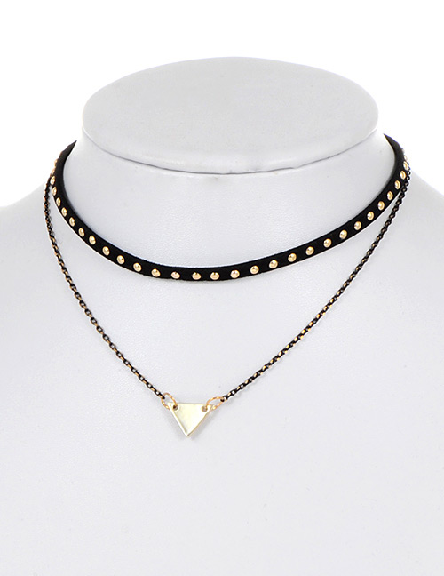 Fashion Black Triangle Shape Decorated Choker