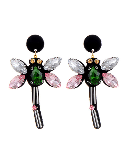 Fashion Multi-color Dragonfly Shape Decorated Earrings