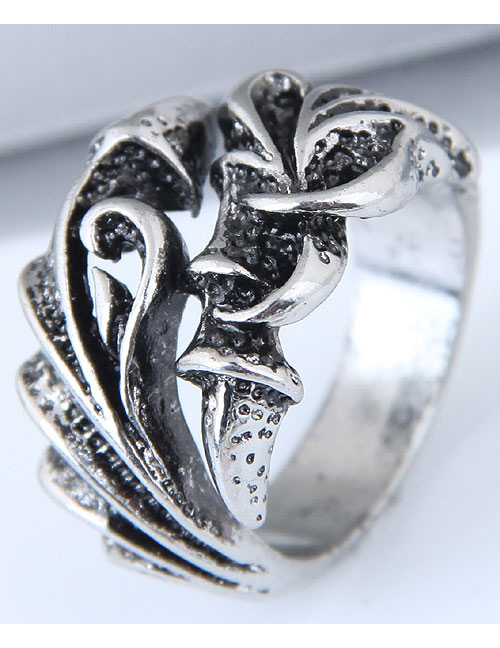 Vintage Antique Silver Claw Shape Design Opening Ring