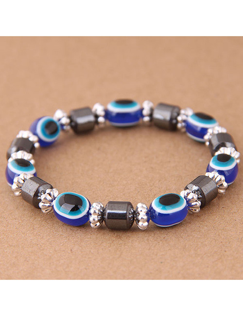 Fashion Sapphire Blue Eye Shape Decorated Bracelet