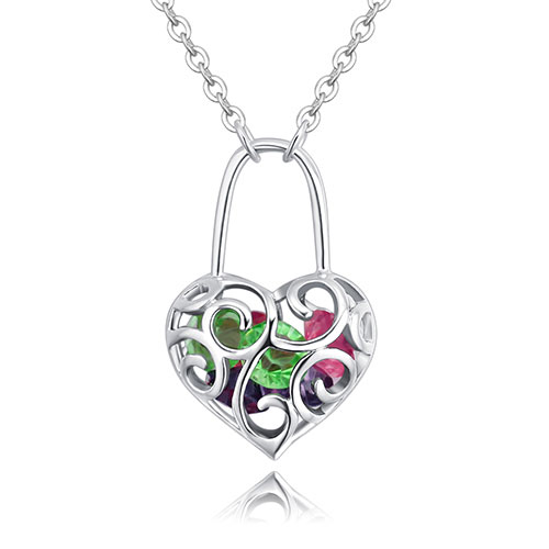Fashion Multi-color Hollow Out Shape Decorated Necklace