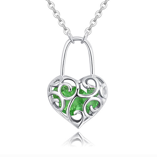 Fashion Green Hollow Out Shape Decorated Necklace
