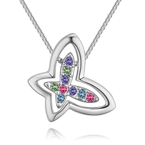 Fashion Multi-color Butterfly Shape Decorated Necklace