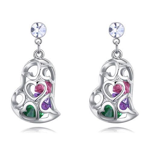 Fashion Multi-color Hollow Out Shape Design Earrings