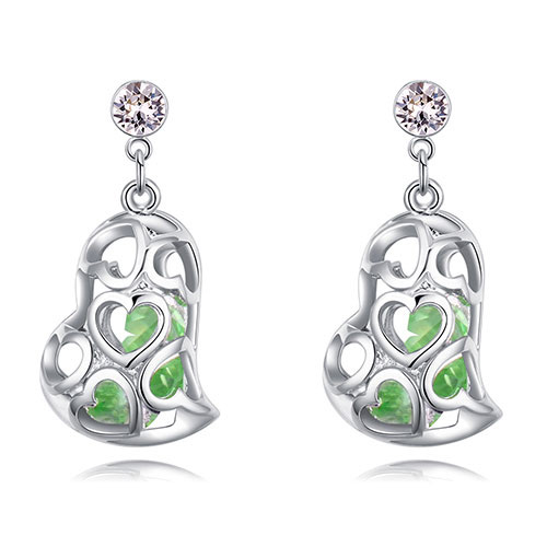 Fashion Olive Hollow Out Shape Design Earrings