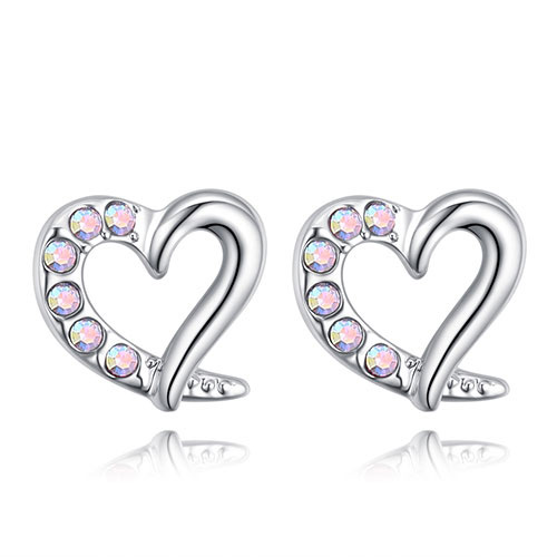 Fashion Multi-color Heart Shape Design Earrings