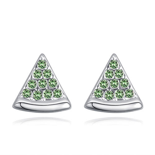 Fashion Olive Triangle Shape Decorated Earrings