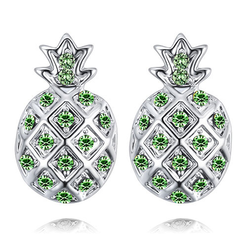 Fashion Olive Pineapple Shape Decorated Earrings