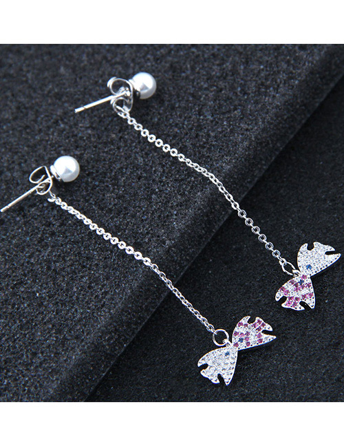 Fashion Silver Color Fish Shape Decorated Earrings