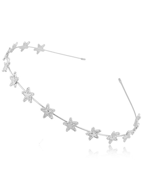 Fashion Silver Color Star Shape Decorated Hairband