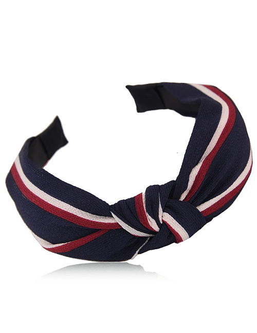 Fashion Navy Stripe Pattern Decorated Hairband