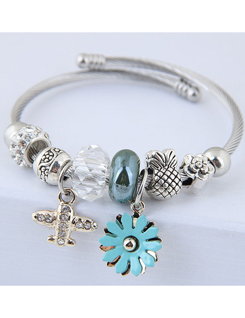 Fashion Blue Plane Shape Decorated Bracelet