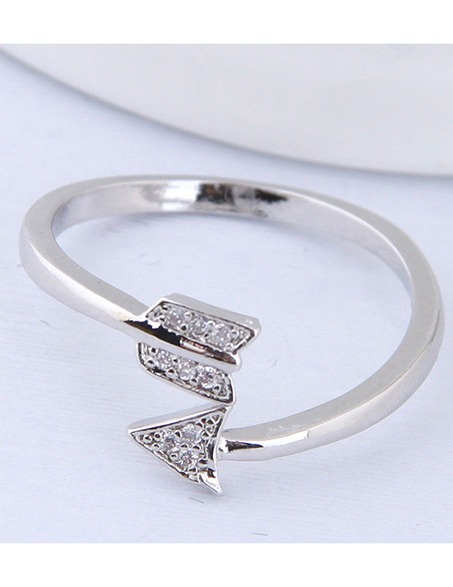 Simple Silver Color Sword Shape Decorated Ring