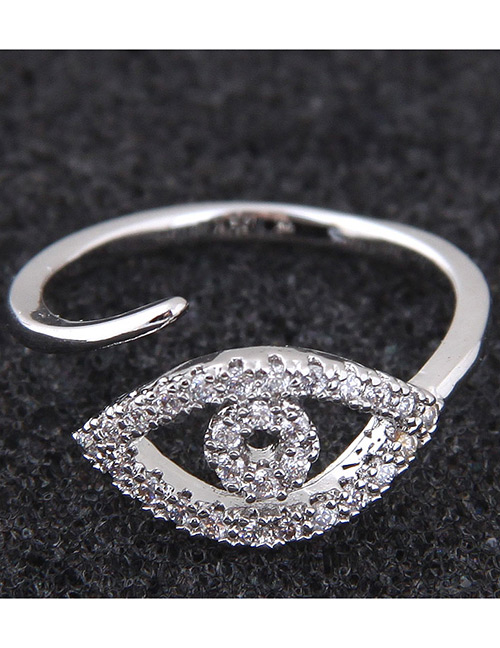 Simple Silver Color Eye Shape Decorated Ring