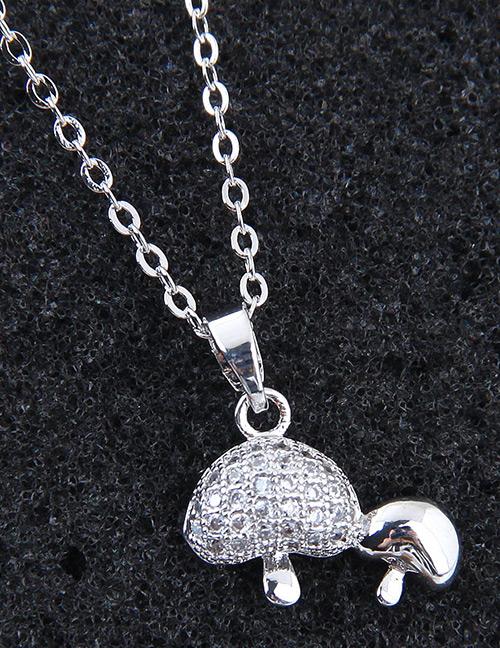 Elegant Silver Color Mushroom Shape Decorated Necklace