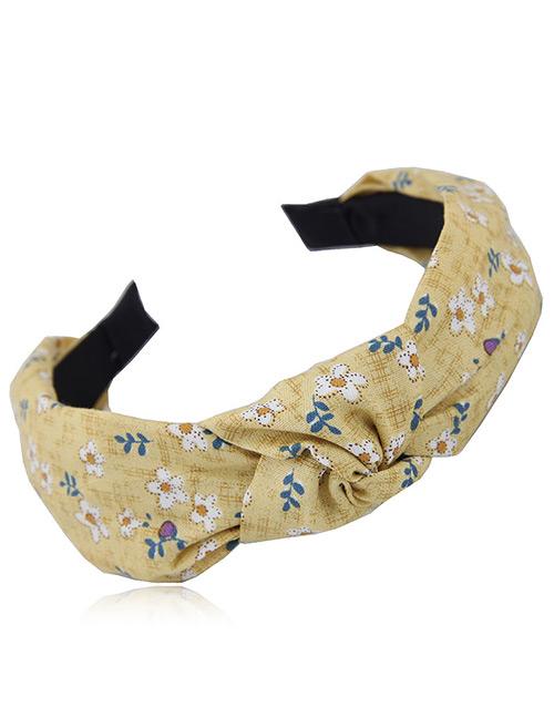 Fashion Yellow Flowers Pattern Design Hair Hoop