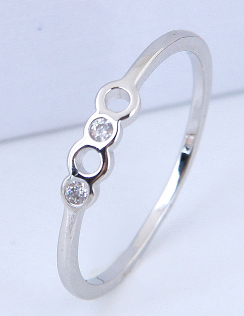 Fashion Silver Color Pure Color Decorated Ring